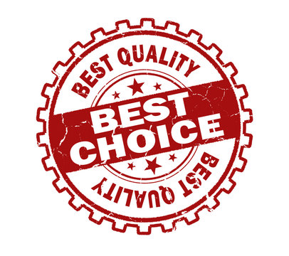 best choice stamp on white background