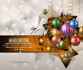 Merry Christmas Greeting Card for happy new year flyers.