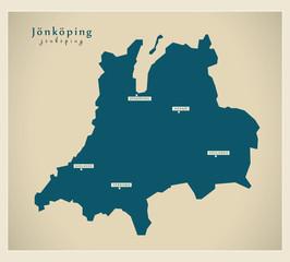 Modern Map - Jönköping SE