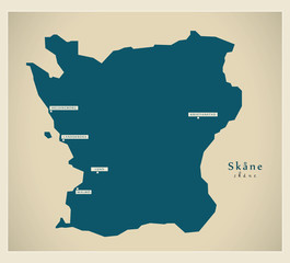 Modern Map - Skåne SE