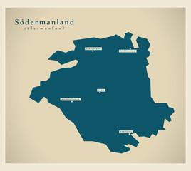 Modern Map - Södermanland SE