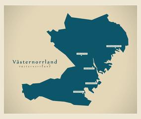 Modern Map - Västernorrland SE
