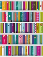 Children book shelf.