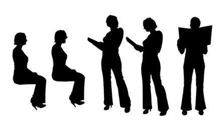 Vector silhouette of a businesswoman.