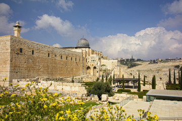 Temple Mount in the Old City of Jerusalem, Israel.