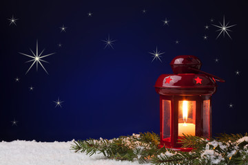 Christmas Lanterns with stars