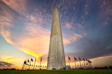 Washington Monumen at sunset, Washington DC Wall mural