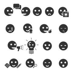 smile icons vector illustration