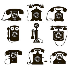 9 vector icons phone