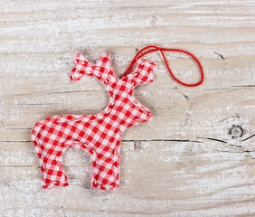 Christmas deer made ​​of fabric