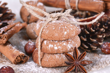 Cookies with nuts and spices