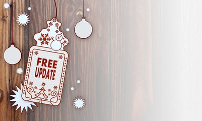 xmas coupon with free update sign