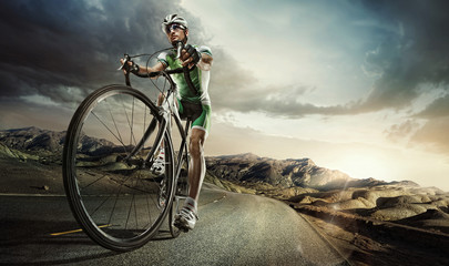 Photo sur Aluminium Cyclisme Sport. Road cyclist