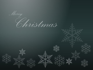 Gray Merry Christmas Background Vector with Snowflakes