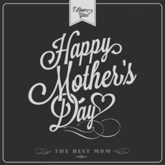 Happy Mothers's Day Typographical Background On Chalkboard