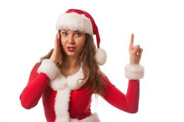 happy new year santa hat