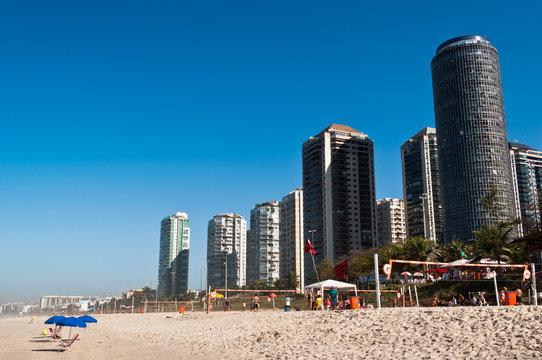 Barra da Tijuca Beach with Luxury Condominium Apartments