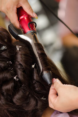 Bride hairstyling