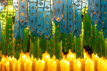 Northern Thai Style Lanterns at Loi Krathong