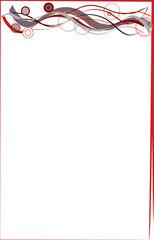 Rahmen mit roten Strichen und Kreisen