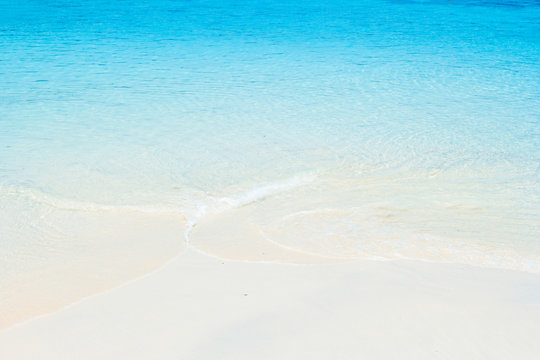 White sand beach and blue sea at andaman sea