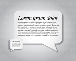 Vector bubble speech background