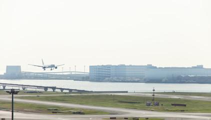 羽田空港 着陸風景