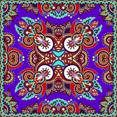 Traditional ornamental floral paisley violet colour bandanna