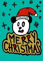 Snowing Christmas with panda