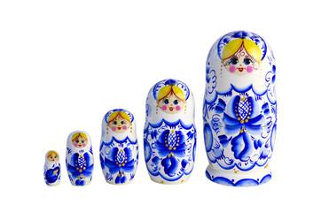 Eine Reihe von Matrjoschkas