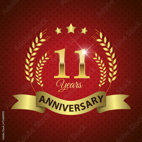 """Celebrating 11 Years Anniversary, Golden Laurel Wreath ..."