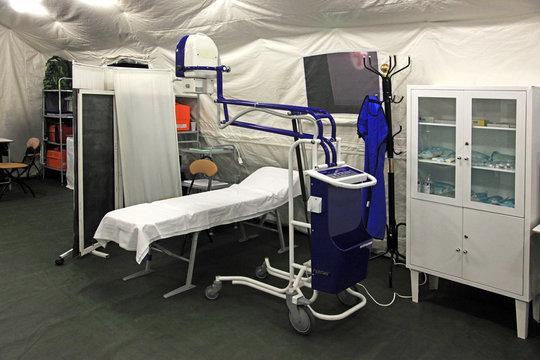 Field hospital tent