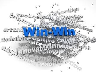 3d imagen Win - Win concept word cloud background