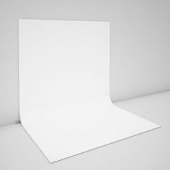 blank bent poster mock up, background