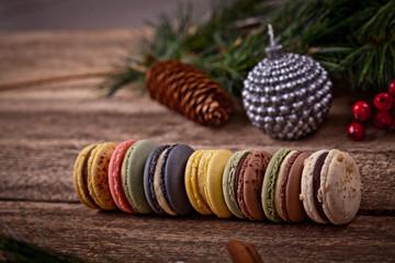 Christmas time, macaroons