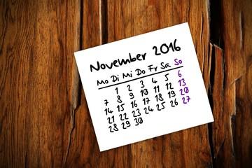 zettl brettl holztisch kalender 2016 XI