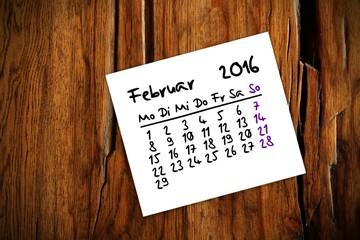 zettl brettl holztisch kalender 2016 II