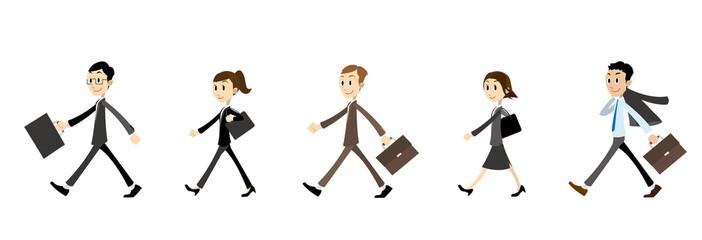 ビジネス歩く人々