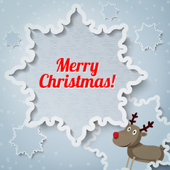 Merry Christmas greeting card with place for your text. Santa