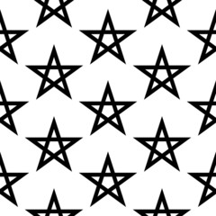 Pentagram button seamless pattern