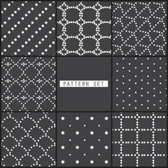 8 black dot patterns