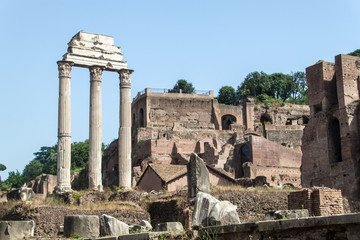Ruins of the Forum Romanum in Rome