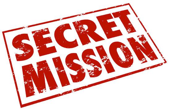 Secret Mission Red Stamp Words Assignment Job Task