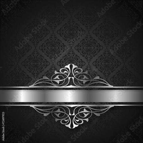 Kare Arka Fon Ve Gümüş Desen Stock Image And Royalty Free Vector