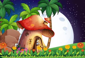 Poster Magic world Mushroom home