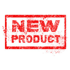 Grunge rubber stamp with text New Product,vector illustration