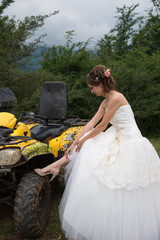Beautiful bride on wedding day