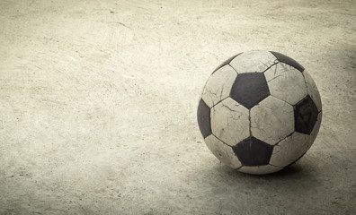 Old football,Image retro tone