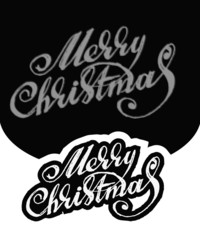 Merry Christmas. Hand-written text