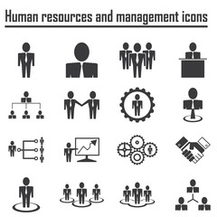 Business Human resources and management icons
